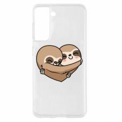 Чохол для Samsung S21 Love sloths