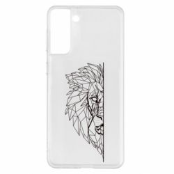Чохол для Samsung S21+ Low poly lion head