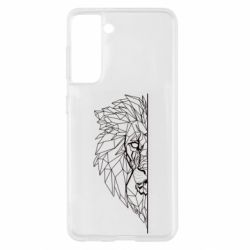 Чохол для Samsung S21 Low poly lion head