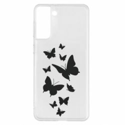 Чохол для Samsung S21+ Many butterflies