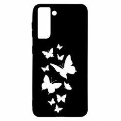 Чохол для Samsung S21 Many butterflies
