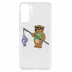 Чохол для Samsung S21+ Ведмідь ловить рибу