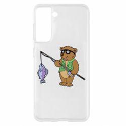 Чохол для Samsung S21 Ведмідь ловить рибу