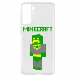 Чохол для Samsung S21+ Minecraft Batman