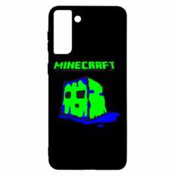 Чохол для Samsung S21+ Minecraft Head