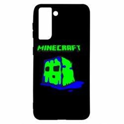 Чохол для Samsung S21 Minecraft Head