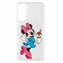 Чохол для Samsung S21 Minnie Mouse and Ice Cream