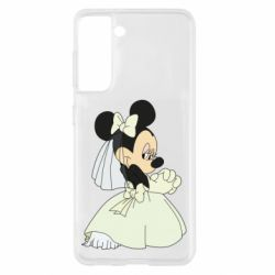 Чехол для Samsung S21 Minnie Mouse Bride