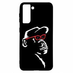 Чохол для Samsung S21 Monkey in red glasses