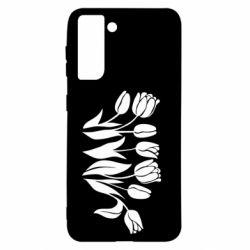 Чохол для Samsung S21 Monochrome tulips