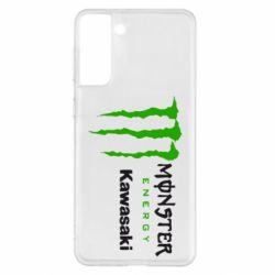 Чохол для Samsung S21+ Monster Energy Kawasaki