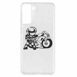 Чохол для Samsung S21+ Мотоцикліст
