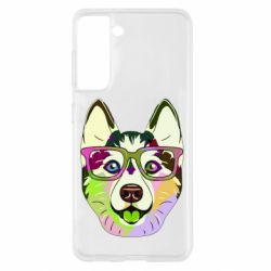 Чохол для Samsung S21 Multi-colored dog with glasses