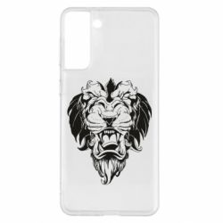 Чохол для Samsung S21+ Muzzle of a lion