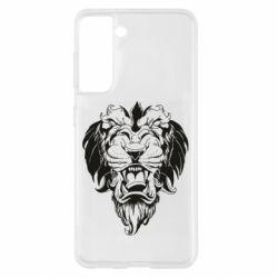Чохол для Samsung S21 Muzzle of a lion