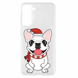 Чехол для Samsung S21 New Year's French Bulldog