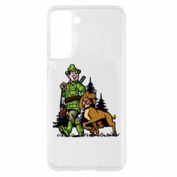 Чохол для Samsung S21 Мисливець з собакою