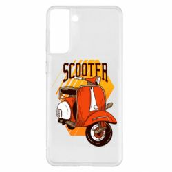 Чохол для Samsung S21+ Orange scooter