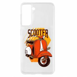 Чохол для Samsung S21 Orange scooter