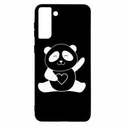 Чохол для Samsung S21+ Panda and heart