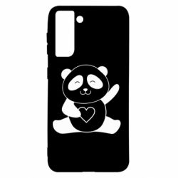 Чохол для Samsung S21 Panda and heart