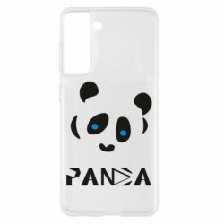 Чохол для Samsung S21 Panda blue eyes