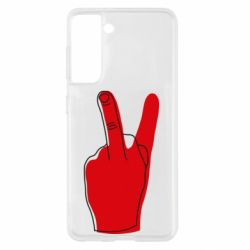 Чехол для Samsung S21 Peace and middle finger