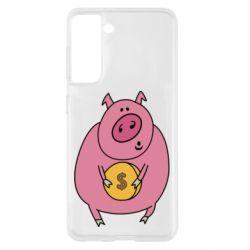 Чохол для Samsung S21 Pig and $