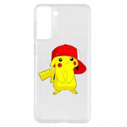 Чехол для Samsung S21+ Pikachu in a cap