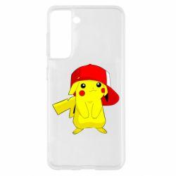 Чехол для Samsung S21 Pikachu in a cap