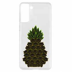 Чехол для Samsung S21+ Pineapple cat