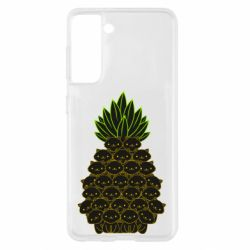 Чехол для Samsung S21 Pineapple cat