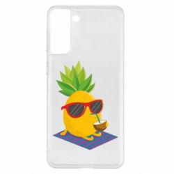 Чохол для Samsung S21+ Pineapple with coconut
