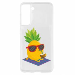 Чохол для Samsung S21 Pineapple with coconut
