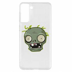 Чохол для Samsung S21+ Plants vs zombie head