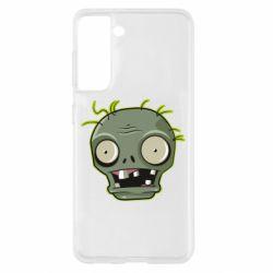 Чохол для Samsung S21 Plants vs zombie head