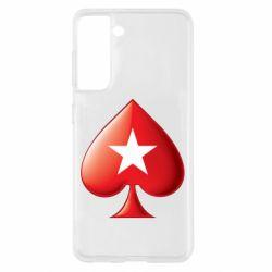 Чохол для Samsung S21 Poker Stars 3D Logo