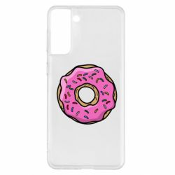 Чехол для Samsung S21+ Пончик Гомера