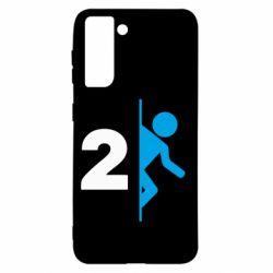 Чехол для Samsung S21 Portal 2 logo