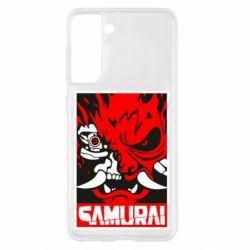 Чохол для Samsung S21 Poster samurai Cyberpunk