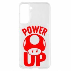 Чохол для Samsung S21 Power Up Маріо гриб