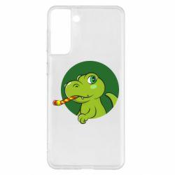 Чохол для Samsung S21+ Святковий динозавр