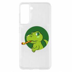 Чохол для Samsung S21 Святковий динозавр