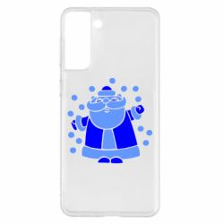 Чохол для Samsung S21+ Прикольний дід мороз