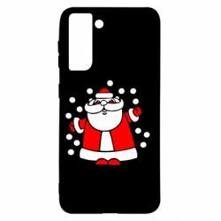 Чохол для Samsung S21 Прикольний дід мороз