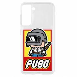 Чехол для Samsung S21 PUBG LEGO