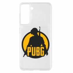 Чехол для Samsung S21 PUBG logo and game hero