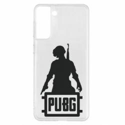 Чехол для Samsung S21+ PUBG logo and hero