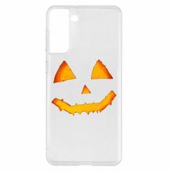 Чохол для Samsung S21+ Pumpkin face features