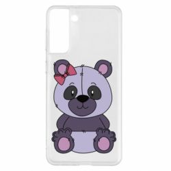 Чохол для Samsung S21+ Purple Teddy Bear